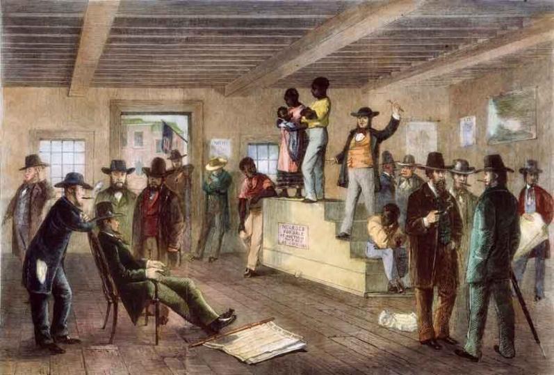 Résultats de recherche d'images pour «estrade aux enchères esclaves images»